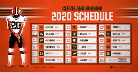 Cleveland Browns schedule 2020: Dates, opponents, game