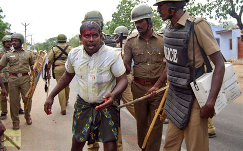 INDIA Police violence against antinuclear protesters: two