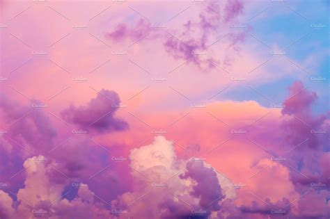 Intense color clouds on sunset sky ~ Nature Photos
