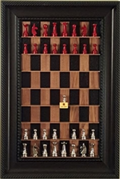 Black Chess pieces on vertical Straight Up Chess board