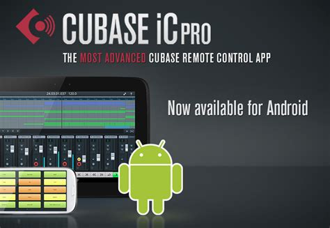 Controller app for Cubase playback, mixing and control for