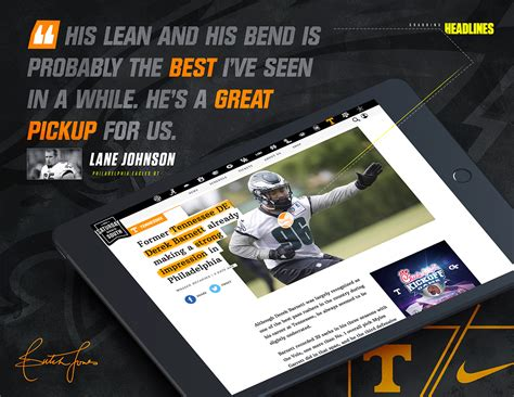 Tennessee Football Recruiting '17-18 on Behance