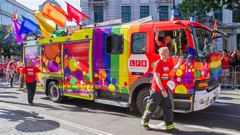 Fire & Rescue , Ambulance and Police at Pride In London