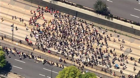 Philadelphia highway shut down as protesters enter roadway
