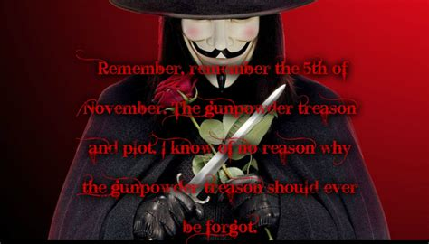 The Fifth Of November V For Vendetta Quotes Remember