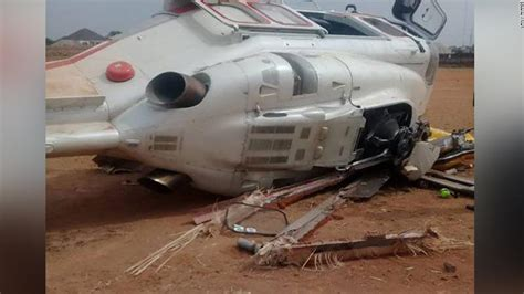 Nigerian Vice President's helicopter crashes on campaign