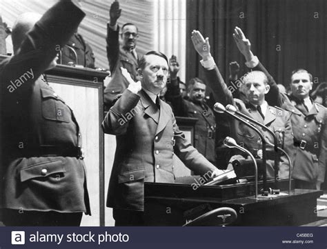 Hitler in the Reichstag, 1941 Stock Photo - Alamy