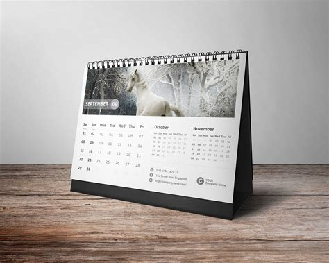 Desk calendar 2018 on Behance
