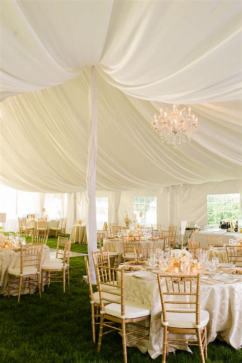White and Gold Tent Wedding - Elizabeth Anne Designs: The