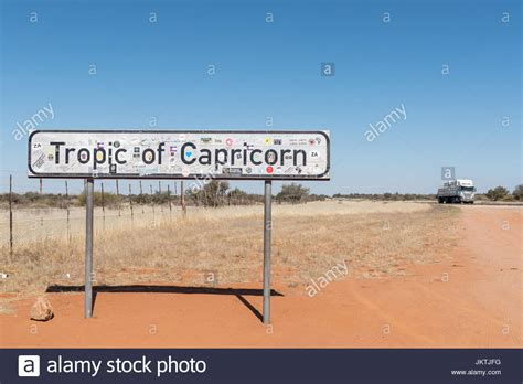 REHOBOTH, NAMIBIA - JUNE 14, 2017: The Tropic of Capricorn