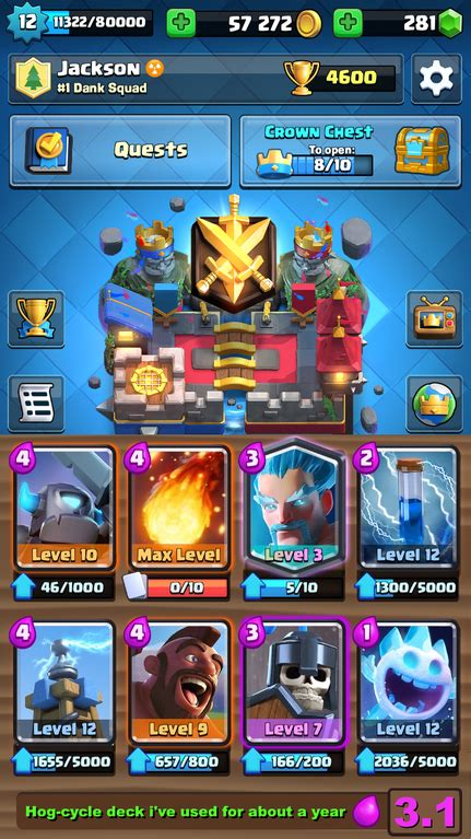 Just reached challenger 3! The deck I used is posted with
