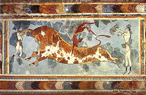 Minoan paintings pictures and photo collection from greek