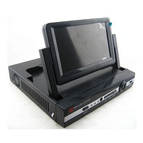 4 channel DVR Recorder With 7 Inch LCD Monitor Screen
