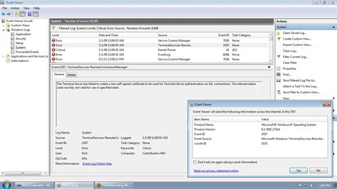 Windows Media Player Network Sharing Service Event Id