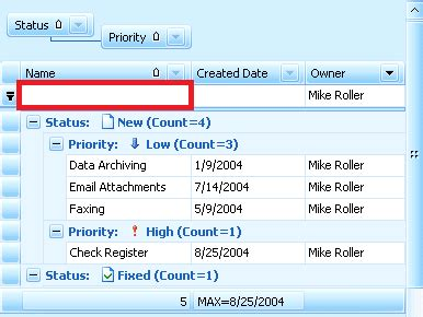 Filtering the WPF DataGrid automatically via the header