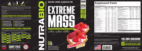 NutraBio's Extreme Mass Weight Gainer Goes Strawberry Pastry!