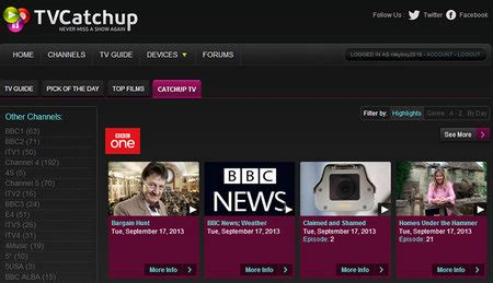TVCatchup adds catch-up TV to service: BBC iPlayer, 4oD