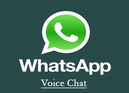 Voice Chat - The new Feature of Whatsapp