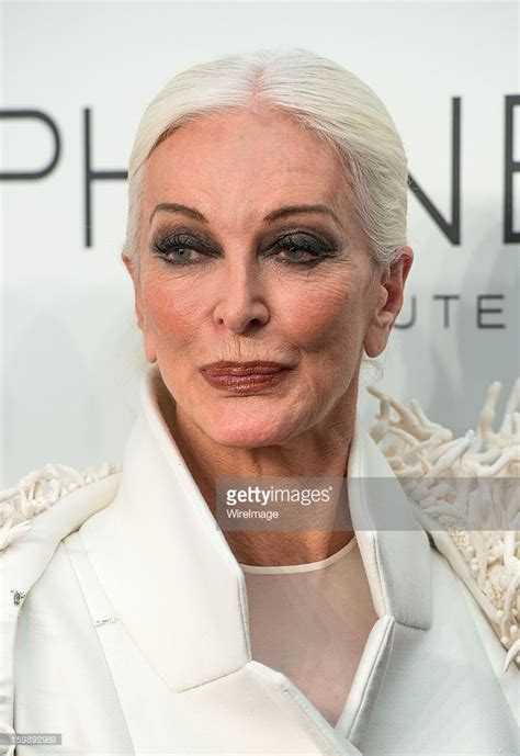 Carmen Dell'Orefice poses backstage at the Stephane Rolland