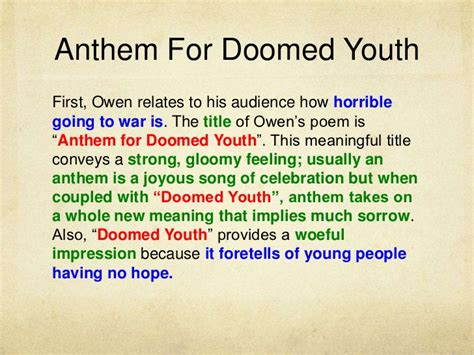 Anthem for Doomed Youth analysis