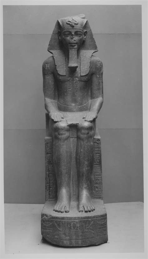 Colossal Seated Statue of Amenhotep III, reworked