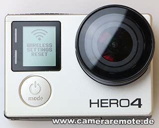 How to reset the GoPro Hero 4 WiFi Password - Camera Remote